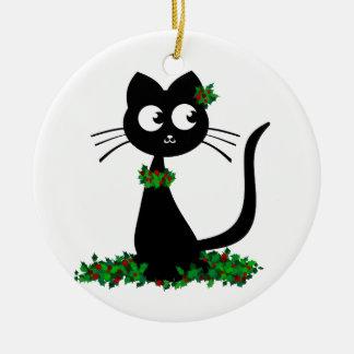 Holly Kuro Christmas Ornament