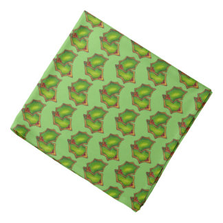 Holly Leaf Green Frosted Christmas Sugar Cookie Bandana
