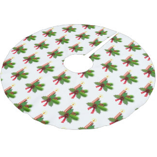 Holly Leaves And Berries Tree Skirt
