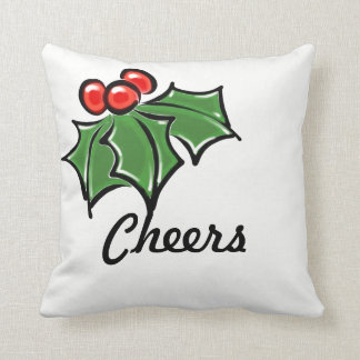 Holly Leaves - cheers Cushion
