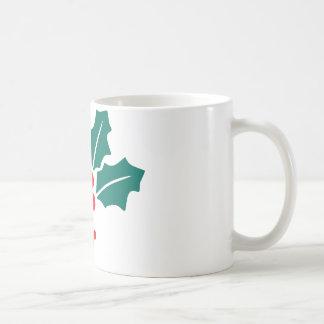 Holly Leaves Christmas Coffee Mug
