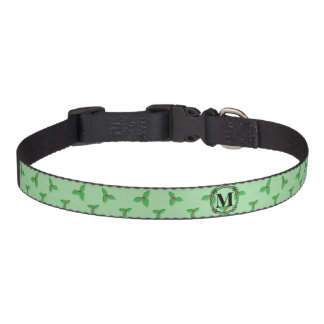 Holly Leaves Dog Collar
