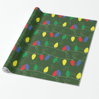 Holly & Lights Wrapping Paper