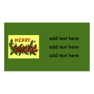 Holly Merry Christmas Pack Of Standard Business Cards