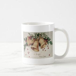 Holly Mistletoe Bells Bell Winterberry Basic White Mug