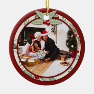 Holly Mistletoe Photo From Our House To Yours | Christmas Ornament
