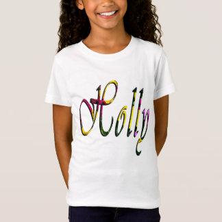 Holly, Name, Logo, Girls White T-shirt