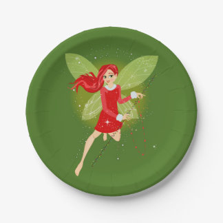 "Holly Paper Plates 7"" 7 Inch Paper Plate"