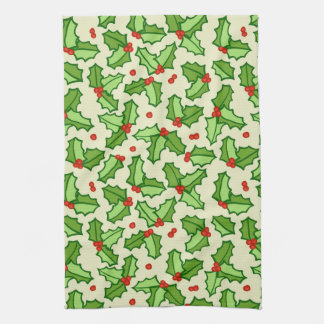 Holly Pattern Tea Towel