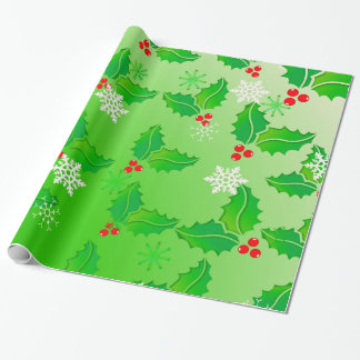 Holly Pattern Wrapping Paper