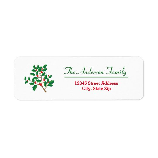 Holly - Return Address Label