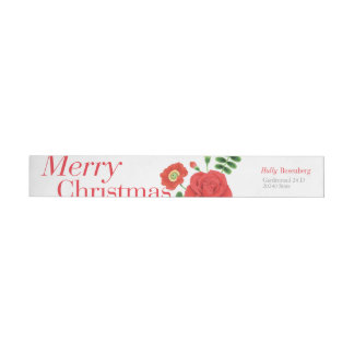 Holly Rose Wraparound Return Address Label