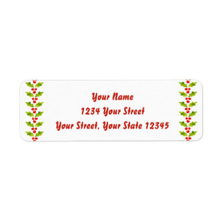 Holly Sided Address Label