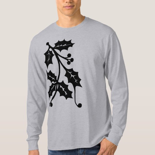 Holly Silhouette - Men's Long Sleeve Shirt