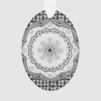 Holly & Snowflake Acrylic Oval Ornament