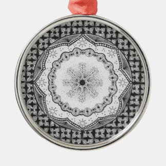 Holly & Snowflake Round Ornament