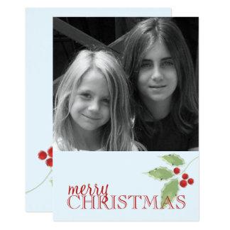Holly Sprig Double Sided Photo Card