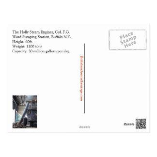 Holly Steam Engine Post Card