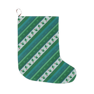 Holly Striped Stocking