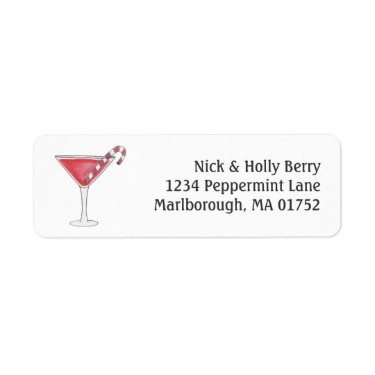Holly-tini Return Address Label