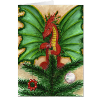 Holly Treetop Dragon Card