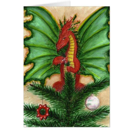 Holly Treetop Dragon Card