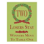 Holly Wreath Bunco Table Card #2 Postcards