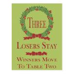 Holly Wreath Bunco Table Card #3 Post Card