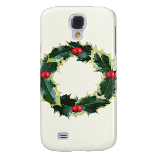 Holly Wreath Galaxy S4 Cases