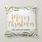 Holly Wreath Christmas Cushion