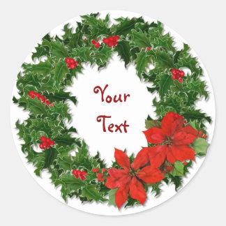 Holly Wreath Customize Sticker