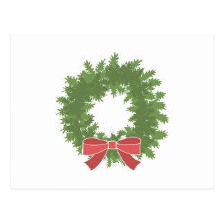Holly Wreath Postcard