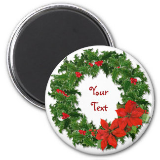Holly Wreath Traditions Magnet