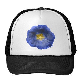 Hollyhock Flower Beautiful Blue Hat