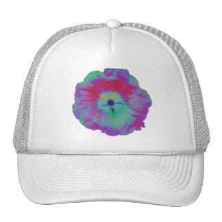 Hollyhock Flower Bright lights Hat