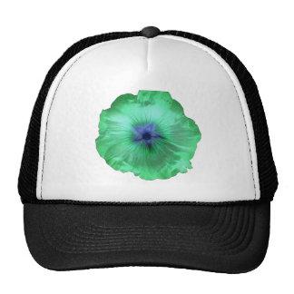 Hollyhock Flower Glowing Green Hat