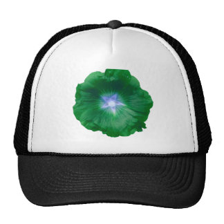 Hollyhock Flower Gorgeous Green Hat