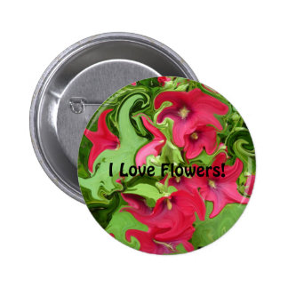 Hollyhock Flower Pattern - Button