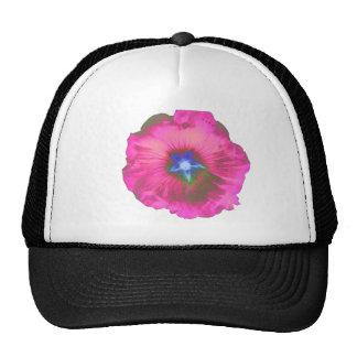 Hollyhock Flower Pink Velvet Hat