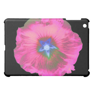 Hollyhock Flower Pink Velvet  iPad Mini Case