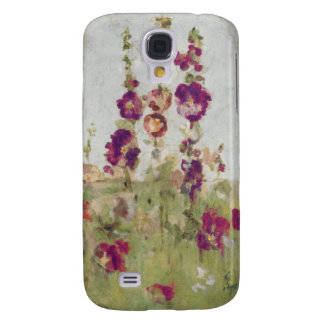 Hollyhocks by the Sea Galaxy S4 Case