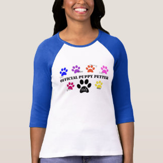 Holly's Half Dozen Official Puppy Petter baseball T-Shirt