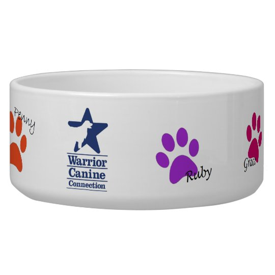 Holly's Half Dozen paw print pet bowl