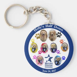 Holly's Half Dozen portrait keychain