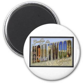 hollywood 6 cm round magnet