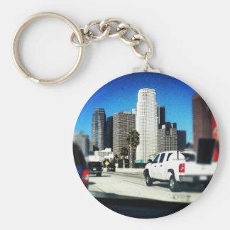 hollywood basic round button key ring