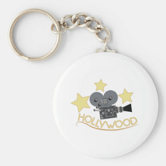 Hollywood Basic Round Button Key Ring