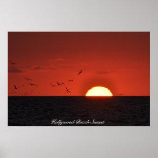 Hollywood Beach Sunset Poster