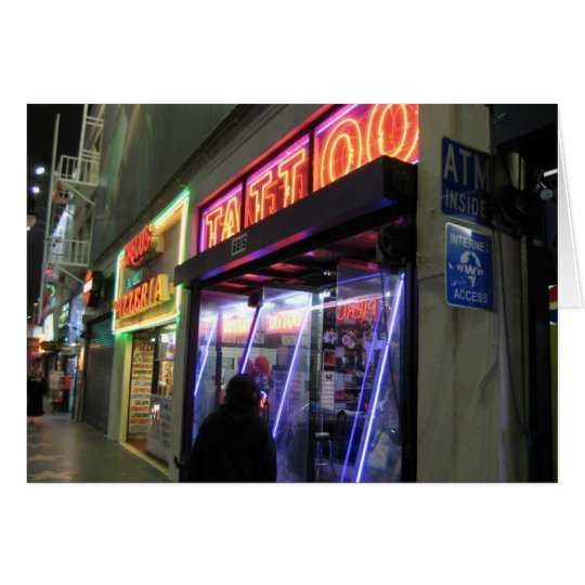 Hollywood Blvd. Tattoo Card