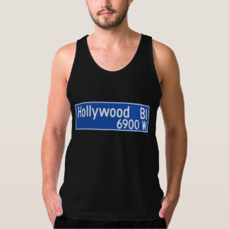 Hollywood Boulevard, Los Angeles, CA Street Sign Tank Top